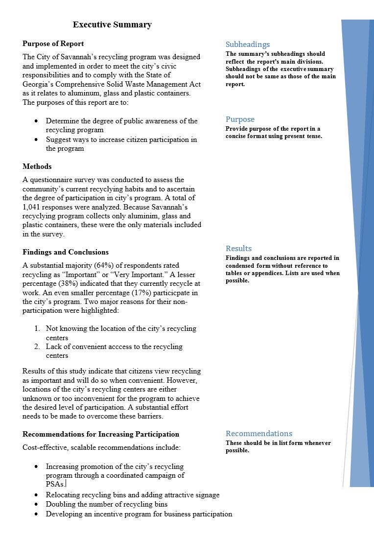 sample executive summary